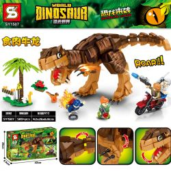 SHENG YUAN SY SY1507 1507 Xếp hình kiểu Lego JURASSIC WORLD Dinosaurs Coming Dinosaur World Dinosaur Carnient Carnient. 589 khối