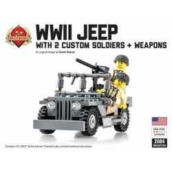 BRICKMANIA 2084_MEGA Xếp hình kiểu Lego MILITARY ARMY WWII Jeep Megaton Bundle World War II Jeep Megaton Bundle Gói Xe Jeep Megaton Trong Thế Chiến II 141 khối
