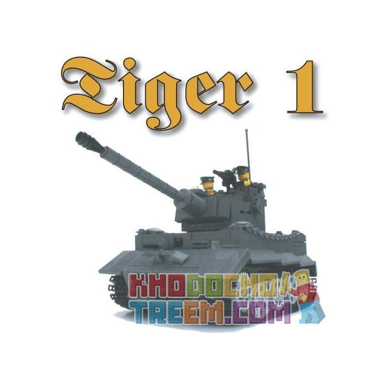 "BRICKMANIA 209 Xếp hình kiểu Lego MILITARY ARMY PzKfw VI Ausf E ""Tiger I"" Tiger I Tank Xe Tăng Tiger I 956 khối"