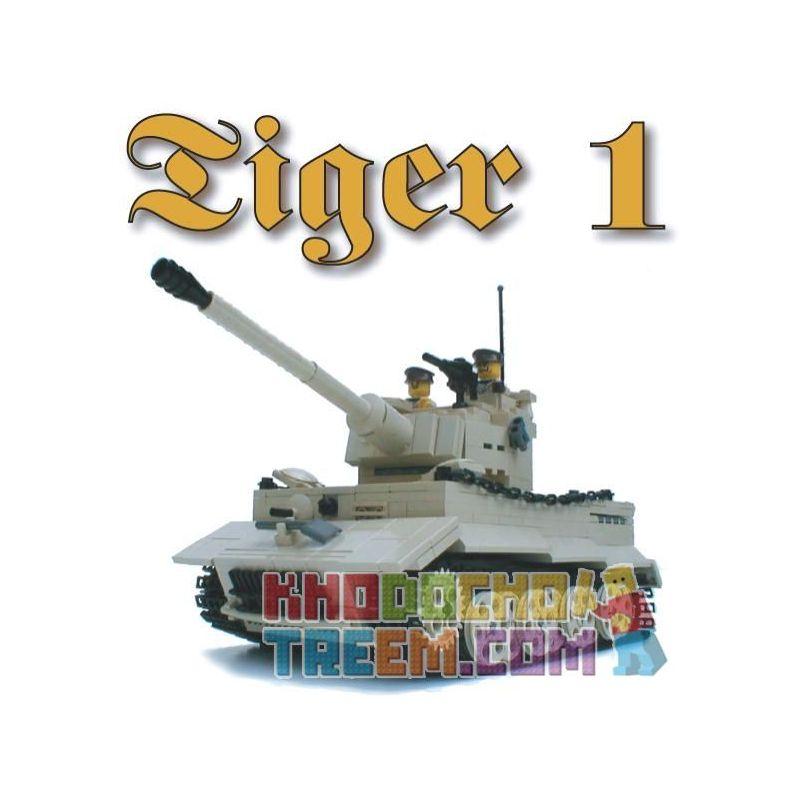 "BRICKMANIA 209T Xếp hình kiểu Lego MILITARY ARMY PzKfw VI Ausf E ""Tiger I"" (Tan Variant) Tiger I Tank (tan Variant) Xe Tăng Tiger I (biến Thể Tan) 978 khối"