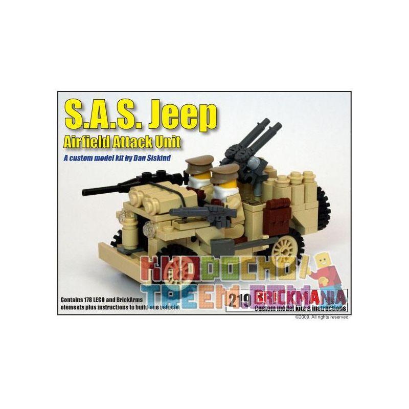 BRICKMANIA 219 Xếp hình kiểu Lego MILITARY ARMY S.A.S. Jeep Xe Jeep Của S.A.S. 178 khối