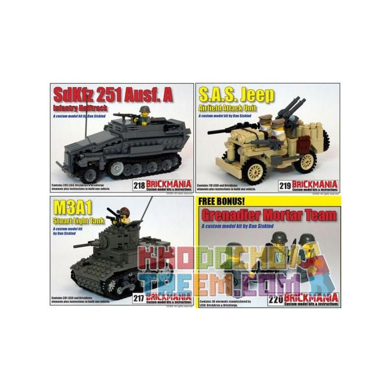 BRICKMANIA 220 Xếp hình kiểu Lego MILITARY ARMY 2009 Battle Pack 984 khối