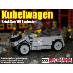 BRICKMANIA 223 Xếp hình kiểu Lego MILITARY ARMY Kübelwagen (BrickCon '09 Exclusive) Type 82 Barrel Car (exclusive To BrickCon 2009) Xe Thùng Kiểu 82 (Dành Riêng Cho BrickCon 2009) 112 khối