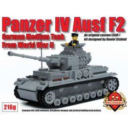 BRICKMANIA 216G Xếp hình kiểu Lego MILITARY ARMY Panzer IV Ausf F2 Tank Four Xe Tăng Bốn 720 khối
