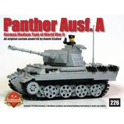 BRICKMANIA 226 Xếp hình kiểu Lego MILITARY ARMY Panther Ausf A Leopard Tank Type A Xe Tăng Leopard Loại A 773 khối