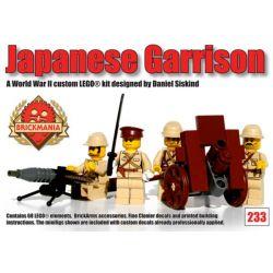 BRICKMANIA 233 Xếp hình kiểu Lego MILITARY ARMY Japanese Garrison Nhà Tù Nhật Bản 68 khối