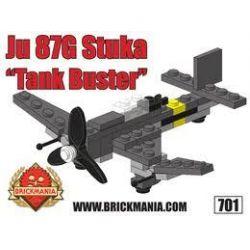 BRICKMANIA 701 Xếp hình kiểu Lego MILITARY ARMY Ju 87G Stuka Ju 87 Dive Bomber Máy Bay Ném Bom Bổ Nhào Ju 87 50 khối