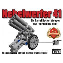 BRICKMANIA 2028 Xếp hình kiểu Lego MILITARY ARMY Nebelwerfer 41 Six-chamber Rocket Launcher Bệ Phóng Tên Lửa Sáu Buồng 63 khối