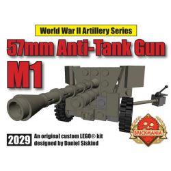 BRICKMANIA 2029 Xếp hình kiểu Lego MILITARY ARMY M1 57mm Anti-tank Gun Súng Chống Tăng M1 57mm 72 khối