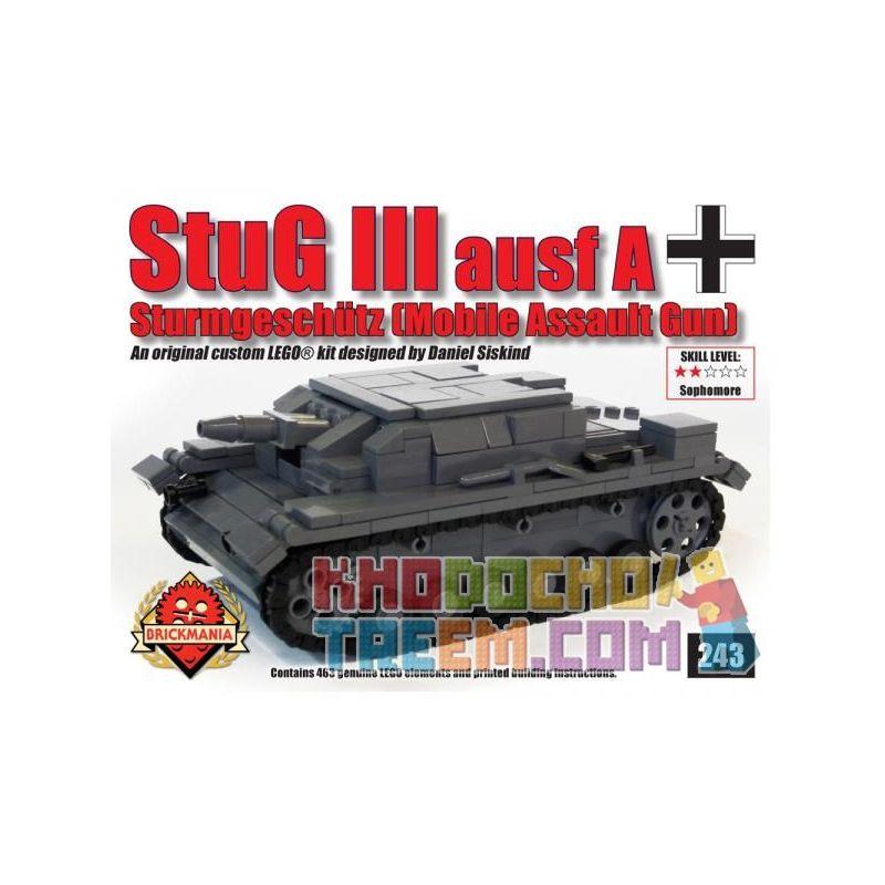 BRICKMANIA 243 Xếp hình kiểu Lego MILITARY ARMY StuG III Ausf A – Mobile Assault Gun Assault Gun No. 3 Súng Tấn Công Số 3 463 khối