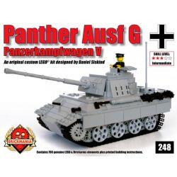 BRICKMANIA 248 Xếp hình kiểu Lego MILITARY ARMY Panther Ausf G – V2 (Gray) Leopard Tank Type G-V2 (Gray) Xe Tăng Leopard Loại G-V2 (Xám) 787 khối