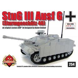 BRICKMANIA 254 Xếp hình kiểu Lego MILITARY ARMY StuG III Ausf G – Sturmgeschutz 41 No. 3 Assault Gun Type G Súng Tấn Công Số 3 Kiểu G 571 khối