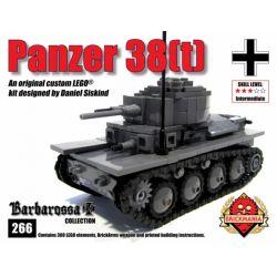 BRICKMANIA 266 Xếp hình kiểu Lego MILITARY ARMY Panzer 38(t) Tank LT-38 Tank Xe Tăng LT-38 388 khối