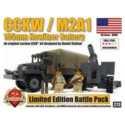 BRICKMANIA 273 Xếp hình kiểu Lego MILITARY ARMY CCKW + M2A1 Battle Pack CCKW + M2A1 Combat Pack Gói Chiến đấu CCKW + M2A1 408 khối