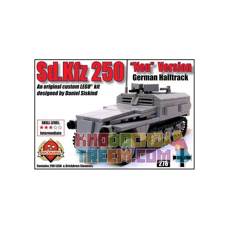 """BRICKMANIA 278 Xếp hình kiểu Lego MILITARY ARMY SdKfz 250 """"Neu"""" Version SdKfz 250 Half-tracked Vehicle """"Neu"""" Version Phiên Bản """"Neu"""" Xe Bán Xích SdKfz 250 290 khối"""