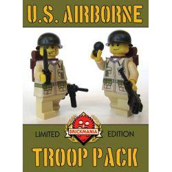 BRICKMANIA 903A Xếp hình kiểu Lego MILITARY ARMY WWII US Airborne Troop Pack (V2) World War II American Paratrooper Pack (V2) Gói Lính Dù Mỹ Trong Thế Chiến II (V2) 8 khối