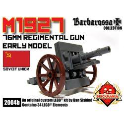 BRICKMANIA 2004B Xếp hình kiểu Lego MILITARY ARMY M1927 76mm Regimental Gun M1927 77mm Infantry Gun Súng Bộ Binh M1927 77mm 38 khối
