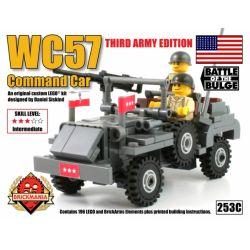 BRICKMANIA 253C Xếp hình kiểu Lego MILITARY ARMY WC57 Command Car (Special Edition) WC57 Command Vehicle (Special Edition) Xe Chỉ Huy WC57 (Phiên Bản đặc Biệt) 196 khối