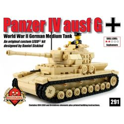 BRICKMANIA 291 Xếp hình kiểu Lego MILITARY ARMY Panzer Iv Ausf G Type 4 Tank G Xe Tăng Số 4 Loại G 694 khối