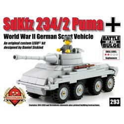 BRICKMANIA 293 Xếp hình kiểu Lego MILITARY ARMY SdKfz234 2 Puma SdKfz 234 Armored Car Xe Bọc Thép SdKfz 234 304 khối