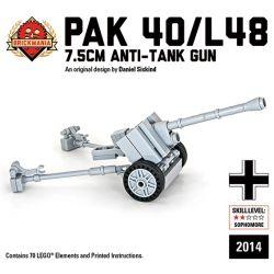 BRICKMANIA 2014 Xếp hình kiểu Lego MILITARY ARMY Pak 40 L48 Anti-tank Gun Súng Chống Tăng Pak 40 L48 70 khối