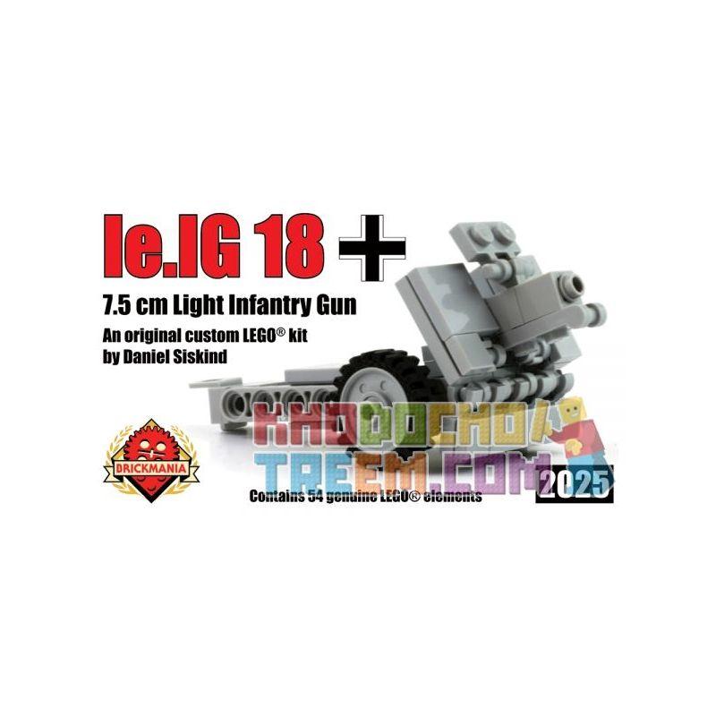 BRICKMANIA 2025 Xếp hình kiểu Lego MILITARY ARMY Ie.IG 18 7.5cm Light Infantry Gun 7.5 Cm Le.IG 18 Light Infantry Gun Súng Bộ Binh Hạng Nhẹ 7,5 Cm Le.IG 18 54 khối