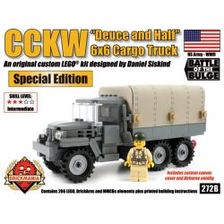 "BRICKMANIA 272B Xếp hình kiểu Lego MILITARY ARMY CCKW ""Deuce And A Half"" 6×6 Cargo Truck (Hard Top) CCKW 6 × 6 Truck Xe Tải CCKW 6 × 6 266 khối"