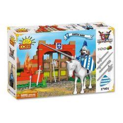 COBI 27102 Xếp hình kiểu Lego CASTLE Castle Gate Cổng Lâu đài 100 khối