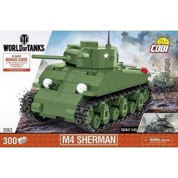 COBI 3063 Xếp hình kiểu Lego MILITARY ARMY M4 Sherman Tank Xe Tăng M4 Sherman 300 khối