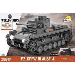 COBI 3062 Xếp hình kiểu Lego MILITARY ARMY PzKpfw III Ausf. J Type III Tank J Xe Tăng Loại III J 286 khối
