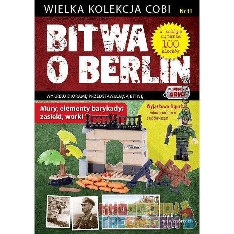 COBI WD-5560 5560 WD5560 Xếp hình kiểu Lego MILITARY ARMY The Walls, Entanglements, Sacks - Battle Of Berlin No. 11 Walls, Roadblocks, Sandbags-Battle Of Berlin No. 11 Tường, Rào Chắn, Bao Cát-Trận Ch