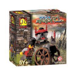 OXFORD MC0825-3 0825-3 Xếp hình kiểu Lego Fire Khan Soldier Fire Sweat Soldier Chiến Binh Lửa Khan