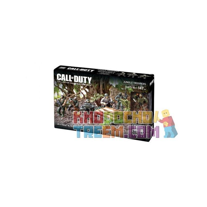 MEGA BLOKS 6875 Xếp hình kiểu Lego CALL OF DUTY Jungle Troopers Call-of-duty Jungle Soldier Lính Rừng 147 khối