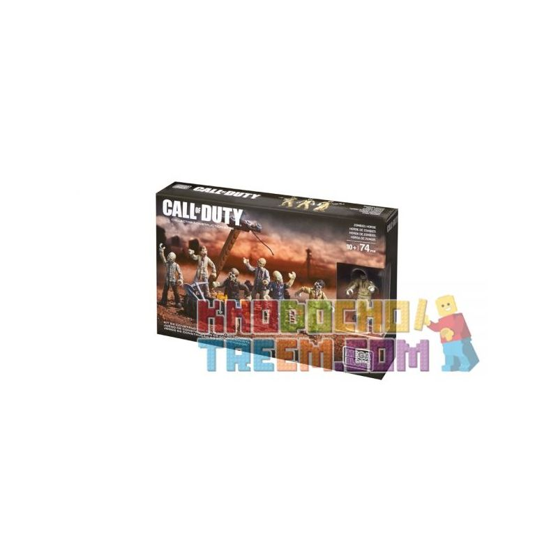 MEGA BLOKS CNF16 Xếp hình kiểu Lego CALL OF DUTY Zombie Horde Call-of-duty Zombie Swarm Bầy Thây Ma 74 khối