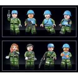 HENGTAI 92001 MEGA BLOKS DCL08 Xếp hình kiểu Lego CALL OF DUTY Peacekeeping Elite Zombie Swarm Bầy Thây Ma 297 khối