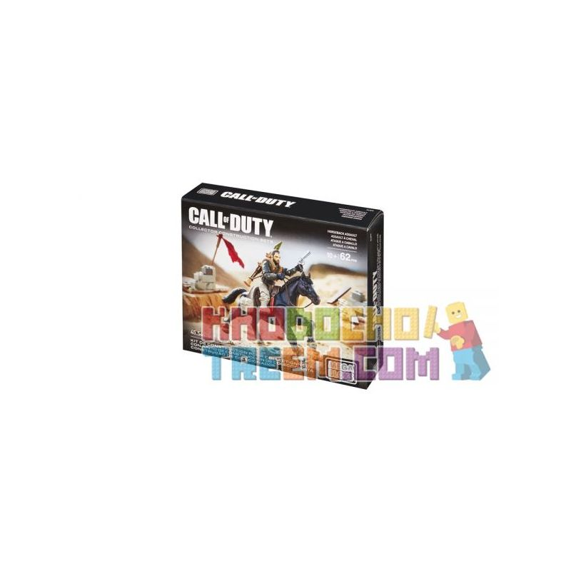 MEGA BLOKS DLB99 Xếp hình kiểu Lego CALL OF DUTY Horseback Assault Call-of-duty Attack On Horseback Tấn Công Trên Lưng Ngựa 62 khối