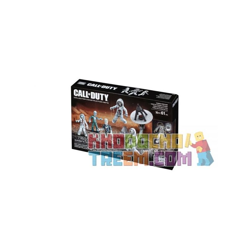 MEGA BLOKS DMT52 Xếp hình kiểu Lego CALL OF DUTY Zombies Moon Mob Call-of-duty Moon Zombie 61 khối