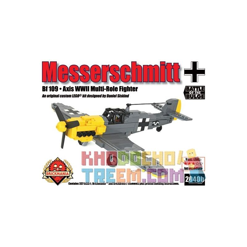 BRICKMANIA 2040B Xếp hình kiểu Lego MILITARY ARMY MesserschmittBf 109 Messerschmidt Bf 109 337 khối