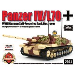 BRICKMANIA 2041 Xếp hình kiểu Lego MILITARY ARMY Panzer IV L70 4 Self-contained Anti-tank L 70 Pháo Chống Tăng Tự Hành Số 4 L 70 565 khối