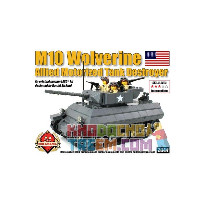BRICKMANIA 2044 Xếp hình kiểu Lego MILITARY ARMY M-10 Wolverine M10 Tank Destroyer Pháo Chống Tăng M10 669 khối