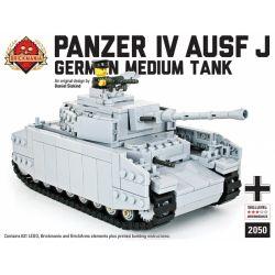 BRICKMANIA 2050 Xếp hình kiểu Lego MILITARY ARMY Panzer IV Ausf J Type 4 Tank G Xe Tăng Số 4 Loại G 631 khối