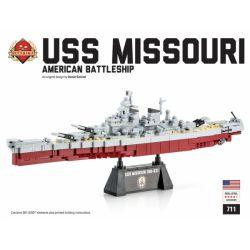 BRICKMANIA 711 Xếp hình kiểu Lego MILITARY ARMY USS Missouri 445 khối