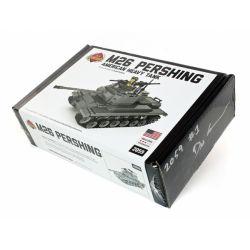 BRICKMANIA 2059 Xếp hình kiểu Lego MILITARY ARMY M26 Pershing Tank - Premium Black Box Edition Kit M26 Pershing Tank-Premium Black Box Edition Set Bộ M26 Pershing Tank-Premium Black Box Edition 696 kh