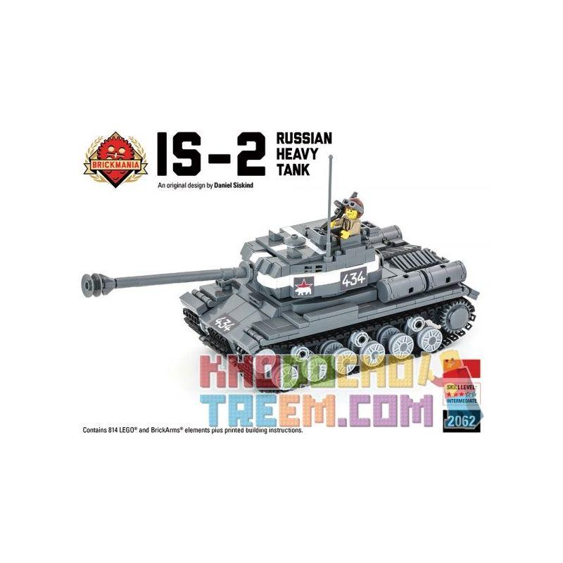 BRICKMANIA 2062 Xếp hình kiểu Lego MILITARY ARMY IS-2 Russian Heavy Tank - Premium Black Box Edition Kit IS-2 Russian Heavy Tank-Premium Black Box Edition Set Bộ Phiên Bản Hộp đen Cao Cấp IS-2 Của Nga