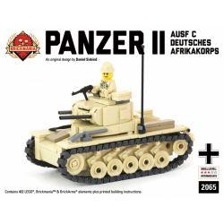 BRICKMANIA 2065 Xếp hình kiểu Lego MILITARY ARMY Panzer II Ausf C - Deutsches Afrikakorps Light Tank Tank II Type C-German African Army Light Tank Xe Tăng II Kiểu C-Xe Tăng Hạng Nhẹ Của Quân đội Đức P