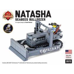 """BRICKMANIA 2073 Xếp hình kiểu Lego MILITARY ARMY """"Natasha"""" Seabees Bulldozer """"Natasha"""" Naval Construction Battalion Bulldozer Máy ủi Của Tiểu đoàn Xây Dựng Hải Quân """"Natasha"""" 339 khối"""