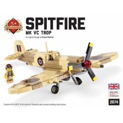 "BRICKMANIA 2074 Xếp hình kiểu Lego MILITARY ARMY Spitfire Mk Vc Trop - Premium ""Black Box"" Building Kit Spitfire Vc Trop-Premium Black Box Edition Set Bộ Spitfire Vc Trop-Premium Black Box Edition 327"