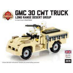 BRICKMANIA 2078 Xếp hình kiểu Lego MILITARY ARMY Long Range Desert Group Truck GMC 30 CWT British Long-Range Desert Force Truck GMC 30 CWT Xe Tải Lực Lượng Sa Mạc Tầm Xa Của Anh GMC 30 CWT 239 khối