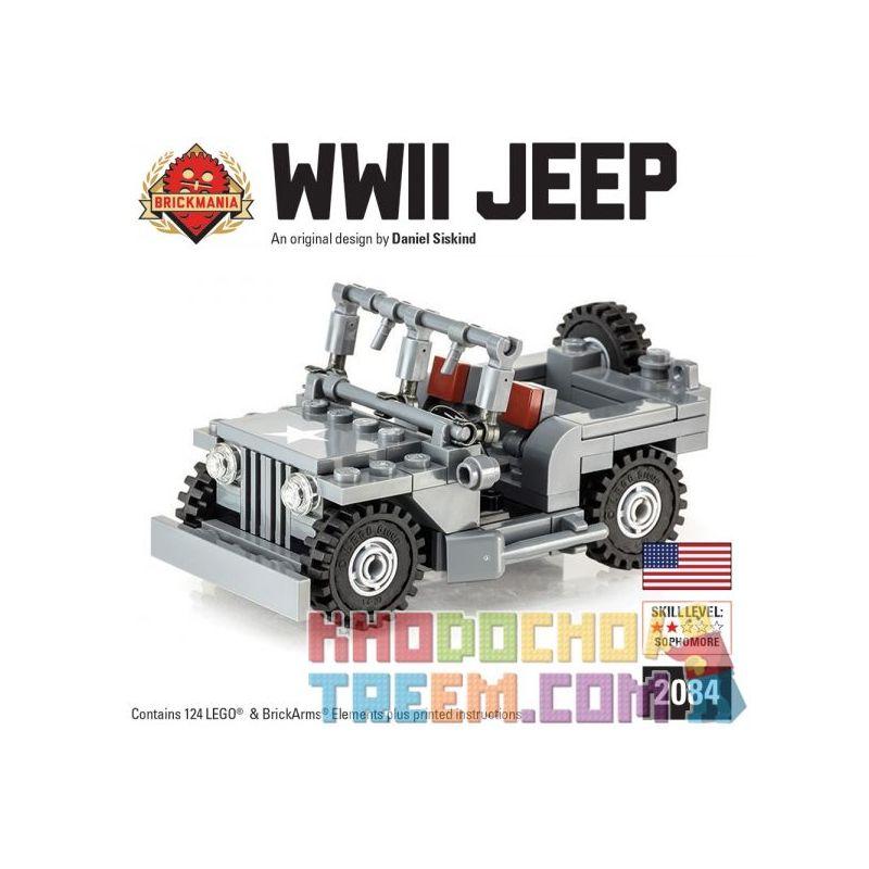 BRICKMANIA 2084 Xếp hình kiểu Lego MILITARY ARMY WWII Jeep World War II Jeep Xe Jeep Thời Thế Chiến II 124 khối
