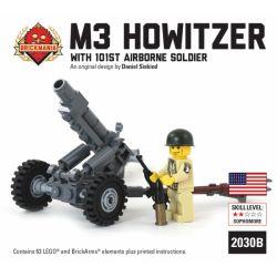 BRICKMANIA 2030BP Xếp hình kiểu Lego MILITARY ARMY M3 105mm Howitzer With 101st Airborne Soldier M3 105mm Howitzer And 101st Airborne Division Soldiers Lựu Pháo M3 105mm Và Binh Lính Sư đoàn Dù 101 63